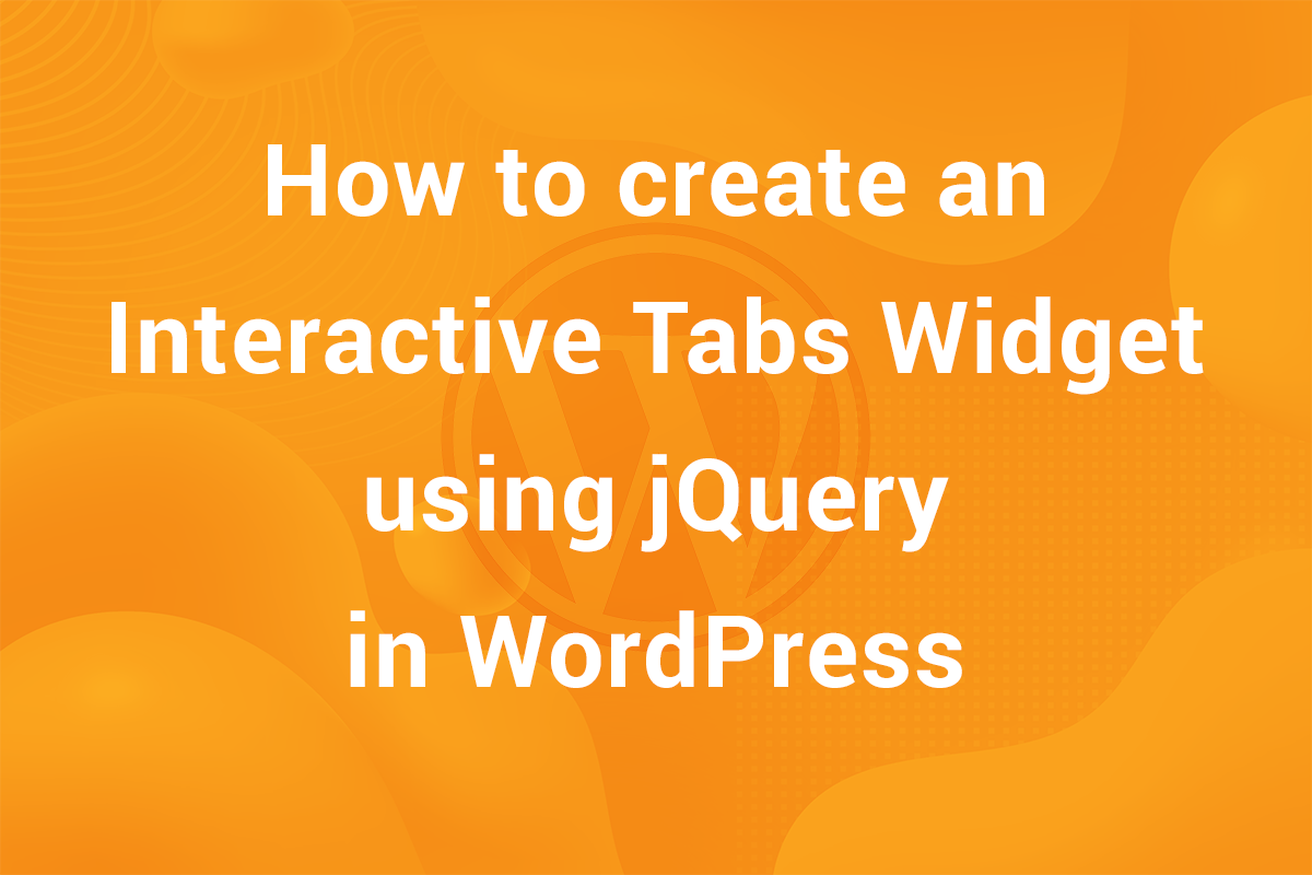 Create a Tabs Widget in WordPress without any plugin