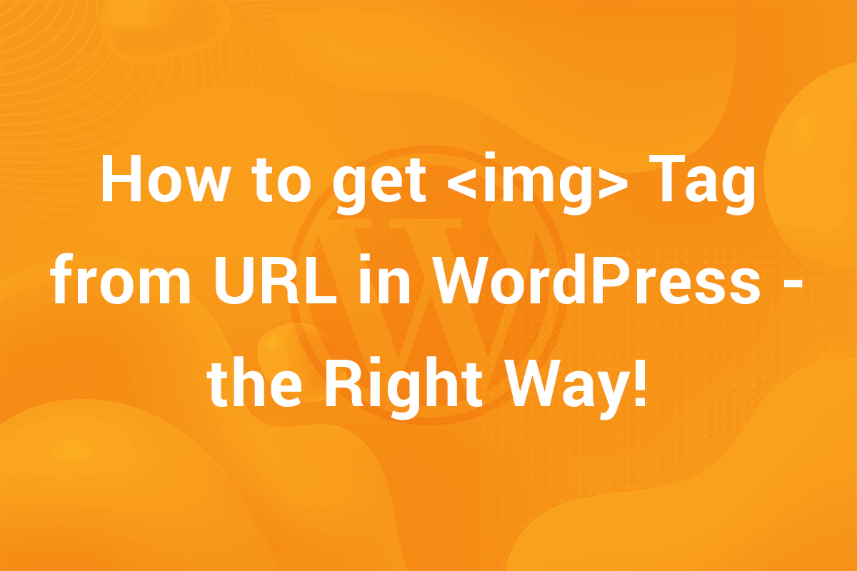 How to get the Image Tag from URL in WordPress – The Right Way!